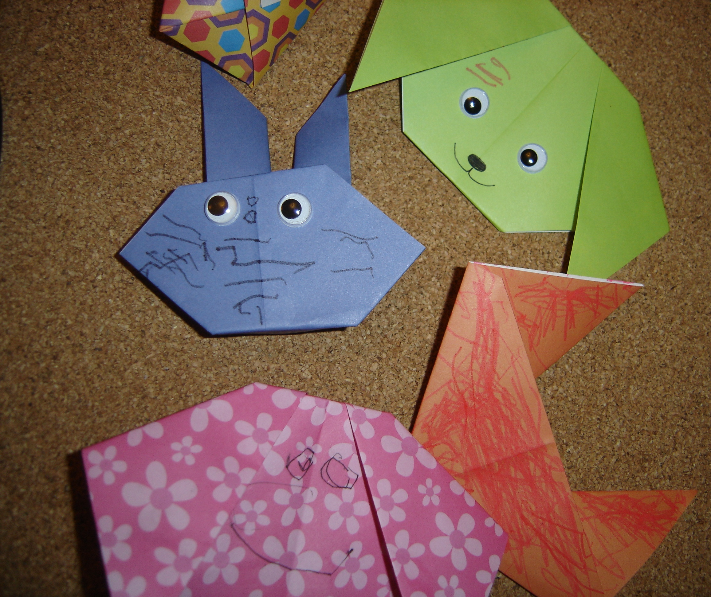 Types of origami from paper